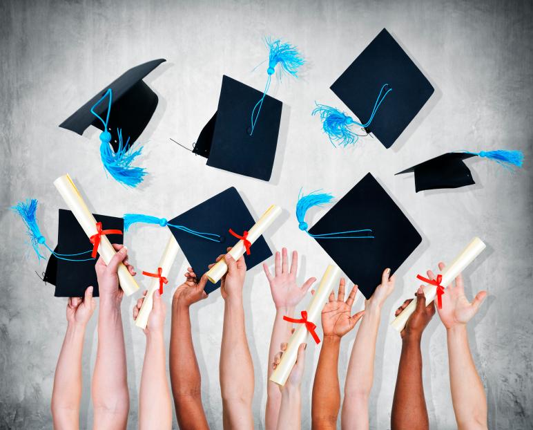 People Celebrating Graduation